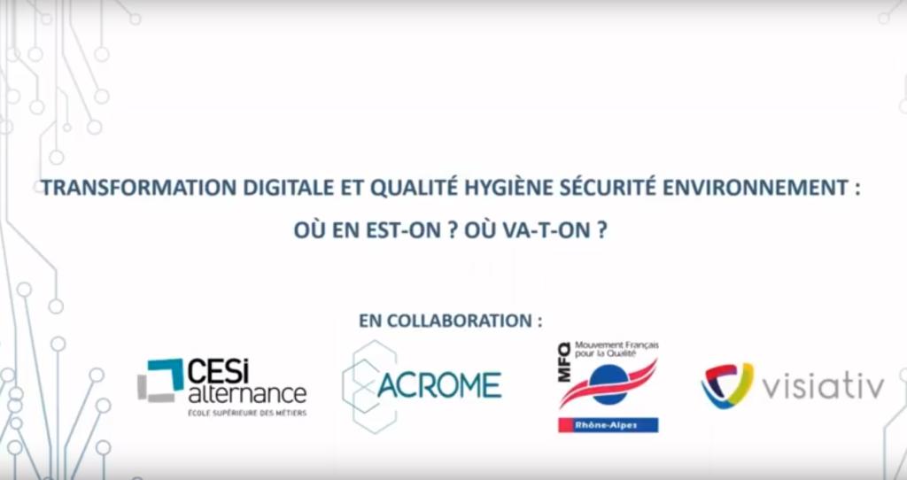 Webinair QSE et transfo digitale